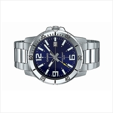 Casio Men Analog Stainless Steel Date Watch MTP-VD01D-2B