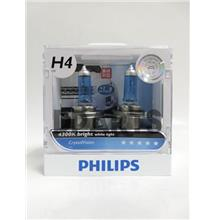 PHILIPS CrystalVision 4300K H4 (Free T10 ) Light Bulb ## HOT SALES ##