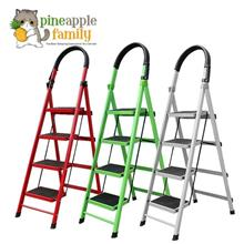 Folding 4-Step Lightweight Steel Step Ladder with Hand Grip
