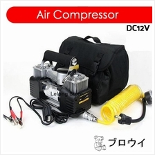 Portable Car Tyre Pump - 2 Cylinder Air Compressor