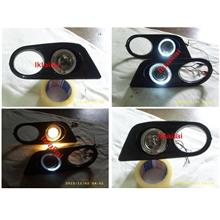 BMW E46 '98-04 M3 LED Ring Projector Fog Lamp Cover ABS