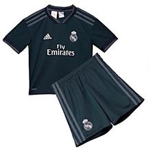 bbe71a987f1 Real Madrid Away 2018 2019 Jersey Set Onyx for Kids