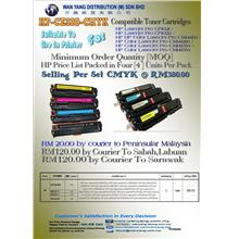 CE320-CMYK COMPATIBLE COLOUR TONER CARTRIDGES