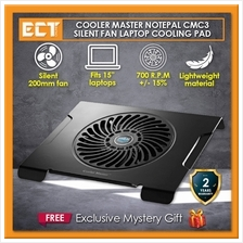 Cooler Master NotePal C3 CMC3 Silent 200mm Single Fan Laptop Cooling Cooler Pa