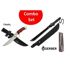 Gerber Combo Gator Machete with Columbia A-10 Saber Blade