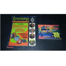 GOOSEBUMPS POSTCARD BOOK & COLLECTOR'S CAPS - R.L. STINE