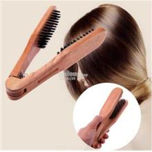 New Wooden Straightener Hair Comb Anti-Static Hairdressing Styling