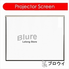 """Manual Wall Projector Screen 100"""" inch Matte White 4:3"""