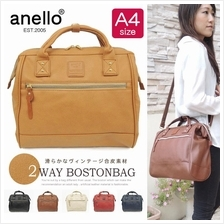 ANELLO JAPAN PU Leather Large Boston Shoulder Bag