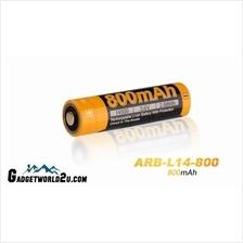 Fenix 14500 3.7V 800mAh Li-ion Rechargeable Battery ARB-L14-800