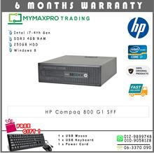 HP Compaq 800 G1 SFF Intel i7-4th Gen 4GB 250GB HDD Win 8 Desktop