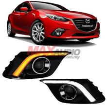 MAZDA 3 AXELA 14-16 2in1 Fog Lamp Cover LED Daytime with Turn Signal
