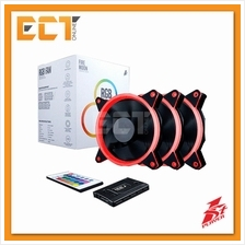 1STPLAYER Fire Moon 120mm RGB Combo 3 Fan with Remote Controller