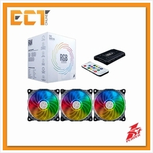 1STPLAYER Fire Dancing 120mm RGB CHROMA Combo 3 Fan with Remote