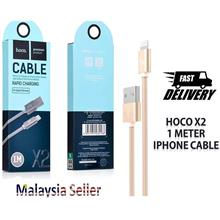 Hoco X2 Nylon Braided Charging And data Cable Lightning Iphone Cable