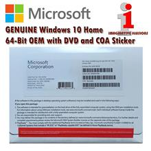 Microsoft Windows 10 Home 64-Bit with DVD and COA Sticker (KW9-00139)