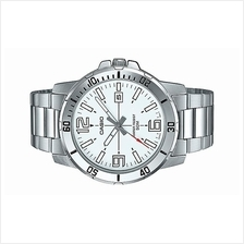 Casio Men Analog Stainless Steel Date Watch MTP-VD01D-7B