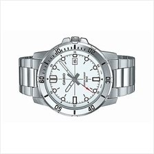 Casio Men Analog Stainless Steel Date Watch MTP-VD01D-7E