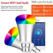 7W Colorful RGB LED Wireless WiFi Light Bulb Support APP Voice Control