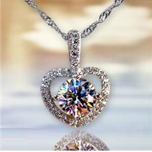Heart Shaped Valentine's Day Diamond Necklace