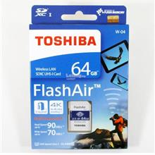 TOSHIBA MC HC10 FLASH AIR WIFI 64GB SD MEMORY CARD (THN-NW04W0640A6)