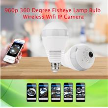 960p 360 Degree Fisheye Lamp Bulb Wireless CCTV Smart IP Camera