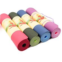 2-toned TPE Yoga Mat Aerobic Gym Fitness Exercise Mat