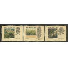 M-19920323 M'SIA 1992 TROPICAL FOREST 3V MINT