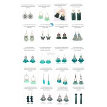 Promotion EARRINGS Green / Blue