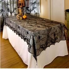 Classic Design Lace Black Spider Wed Party Decorative Tablecloth For H..