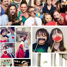 35 Pcs Funny DIY Photo Booth Prop Happy Halloween Party Props Game Sup..