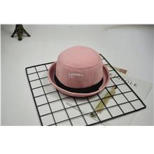 Hat female Korean jazz curling dome small hat- Pink