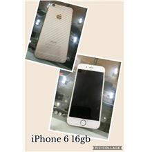 IPHONE 6 16GB USED WHITE GOLD.