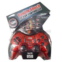 XON DOUBLE SHOCK PC USB CONTROLLER RED
