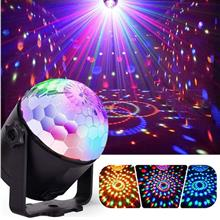 7W RGBYW Voice Activated Remote Control LED Crystal Magic Ball Stage L