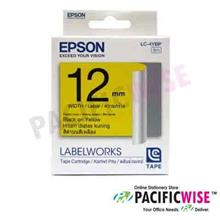 Epson Tape Cartridge 12mm (Black On Yellow)