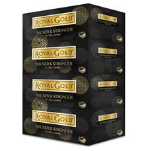Royal Gold Luxurious White Facial Tissues 4 bxs X120 Sheets - 3 Packs)