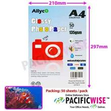 Allyco A4 Glossy Photo Paper 135gsm - 50's