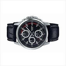 Casio Men Multi Hands Leather Dress Watch MTP-E317L-1AVDF