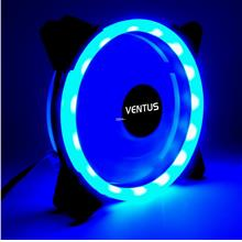 Ventus 12 cm Radika blueLED double ring casing fan Vs Segotep Aigo