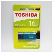 TOSHIBA 16GB USB2.0 HAYABUSA FLASH DRIVE (THN-U202L0160A4) BLUE