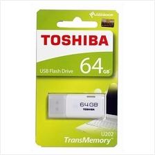 TOSHIBA 64GB USB2.0 HAYABUSA FLASH DRIVE (THN-U202W0640A4) WHT
