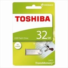 TOSHIBA 32GB USB2.0 OHWARI METAL FLASH DRIVE (THN-U401S0320A4) SILVER