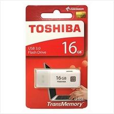 TOSHIBA 16GB USB3.0 HAYABUSA FLASH DRIVE (THN-U301W0160A4) WHT