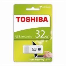 TOSHIBA 32GB USB3.0 HAYABUSA FLASH DRIVE (THN-U301W0320A4) WHT