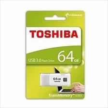 TOSHIBA 64GB USB3.0 HAYABUSA FLASH DRIVE (THN-U301W0640C4) WHT