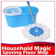 Easy Magic Floor Mop Set 360 Degree Microfiber Spin Spinning Rotating