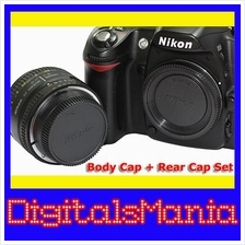 Octopus High Quality Body Cap + Rear Cap For Nikon Camera Body & Lens