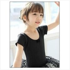 Black Ballet Dance Skirt Dress (Short Sleeve)