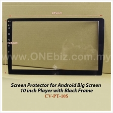 "Screen Protector for Android Big Screen 10"" Player with Black Frame"